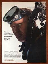 Vintage 1966 Original Print Ad HAMILTON Aqua-Date Exciting Fine WATCH ~scuba~