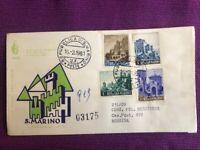 SAN MARINO 1961 FDC Venetia  N°58/SM VEDUTE VIAGGIATE