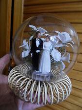 Antique Globe boule verre mariage mariés 60's deco wedding centre table center