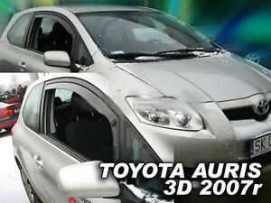SET OF FRONT HEKO TINTED WIND DEFLECTORS for TOYOTA AURIS 3 DOOR 2007-2012 2pc