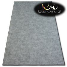 """Hardwearing Soft carpets """"POZZOLANA"""" silver thick wall-to-wall Rug Best-carpets"""