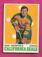 1970-71 OPC # 191 GOLDEN SEALS EARL INGARFIELD  EX-MT CARD (INV# C2444)