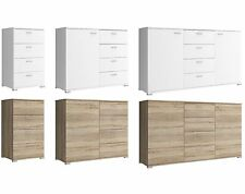 CHEST OF DRAWERS SIDEBOARD 50cm 100cm 150cm WIDE SINGLE DOUBLE TRIPLE WHITE OAK