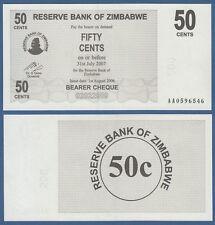 SIMBABWE / ZIMBABWE 50 Cents 2006  UNC  P. 36