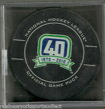 2010 VANCOUVER CANUCKS 40TH ANNIVERSARY OFFICIAL GAME PUCK
