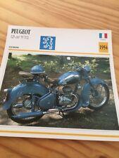 Peugeot 125 cm3 55 TCL 1954 Carte moto Collection Atlas France