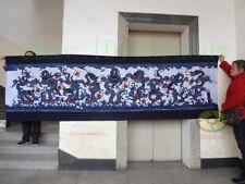 "Folk Art Decor Wall Hanging Batik Tapestry - Nine Dragons(Chinese Loong) 33x118"""