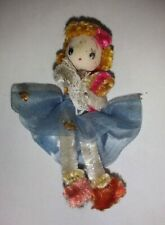 """Chenille Pipe Cleaner Woman/Girl Doll Figure 2"""" Vintage"""