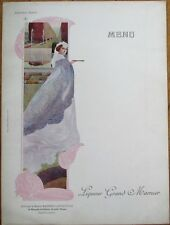 Grand Marnier 1910 Art Nouveau French Advertising Menu - Imperatrice Eugenie