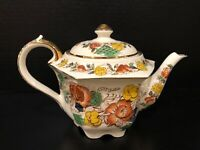 Vintage 1930's Sadler England Teapot Rose Garden - Early Number 1257? - GREAT!!