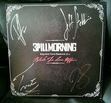3 PILL MORNING Black Tie Love Affair Vinyl Album Signed Autographed TWICE!