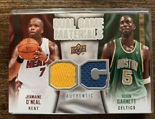 2009-10 Upper Deck Jermaine O'Neal Kevin Garnett Game Materials Celtics Heat