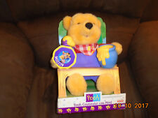 NIB Winnie the Pooh Happy with Honey Contento Con Miel TALKS & MOVES Spanish Plu