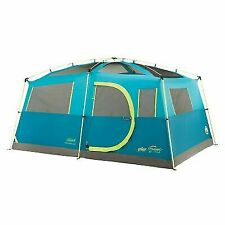 Coleman Tenaya Lake Fast Pitch 8 Person Cabin Tent with Closet - Blue