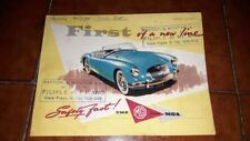 BROCHURE DEPLIANT ADVERTISEMENT MG SERIES MGA 1500 CC COUPÉ ENGLISH 1957