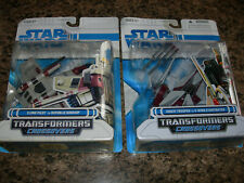 2 Star Wars Transformers Crossovers CLONE PILOT & SHOCK TROOPER Gunship V-Wing