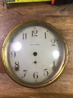 OLD  ANTIQUE SETH THOMAS MANTLE SHELF CLOCK DIAL / BEZEL WITH GLASS (LOT M470)