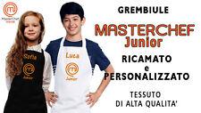Grembiule Masterchef JUNIOR - RICAMATO (non stampato!) - Idea Regalo!