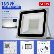 New listing 5Pcs 100W Led Flood Light Cool White Outdoor Security Garden Spot Lamp Us Stock