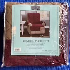 NEW Home Fashion Designs Reversible Recliner Chair Furniture Protector 79x68in