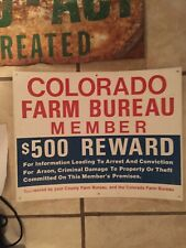 Colorado Farm Sign Durable Plastic And Metal Sign