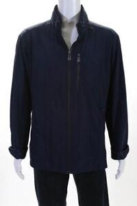 Tumi  Mens Hooded Raincoat Navy Blue Size Extra Extra Large