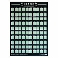 Gift Republic 100 Movies Scratch Off Bucket List Poster Film Lover Gift Idea