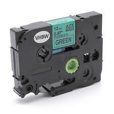 Cassetta nastro 12mm nero > verde flexi per Brother TZE-FX731,TZeFX731
