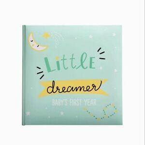 Kate & Milo Unisex Little Dreamer Baby's First Year Memory Book Keepsake