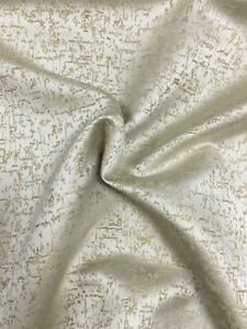 Champagne Gold Fleck Satin Look Pattern Curtain Fabric Material 137cm wide BR086