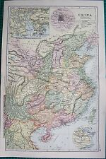 1901 LARGE VICTORIAN  MAP-CHINA INCLUDING PARTS OF SIAM AND ANNAM