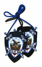 Scapular St Michael Archangel Archconfraternity Shield Scapular 100% Wool Medals