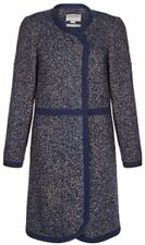 Monsoon Ayanna Blanket Coat Navy Mix Uk 18 Bnwt Wool Blend
