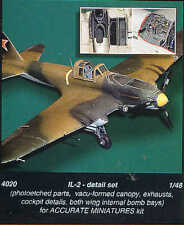 Czech Master 1/48 Ilyushin IL-2 Detail Set for Accurate Miniatures # 4020
