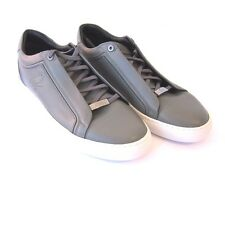J-1853225 New Brioni Graphite Leather Sneakers Shoes Size US 11