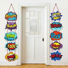Large Hero Action Sign Cutouts Super Fun Hero Theme Party Supplies Door Hero