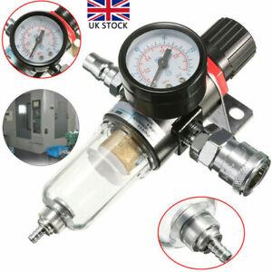 Air Pressure Regulator Gauge Water Trap Spray Gun Oil Filter Separator Valve