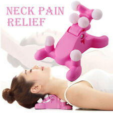 Cervical Pillow Neck And Head Pain Relief Massage Traction Device Support US Hot