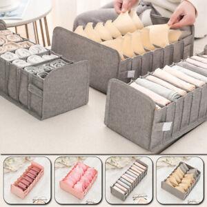 Underwear Storage Box Socks Bra Foldable Divider Drawer Closet Organizer Storage