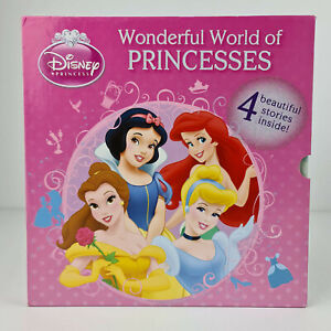 Disney Wonderful World of Princesses 4 Book Box Set Hardback Cinderella