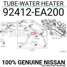 92412EA200 Genuine Nissan TUBE-WATER HEATER 92412-EA200