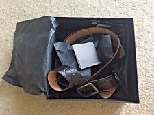 NEW $400 DSQUARED2 BROWN GENUINE LEATHER CROCODILE BOW BELT SMALL Made in Italy