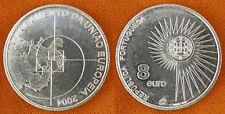 PORTUGAL  ,  8  EUROS  ARGENT  2004   EUROPE  ,  SUPERBE