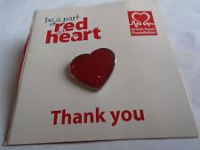 British Heart  Foundation Red Sparkle Heart Pin Badge BNOC