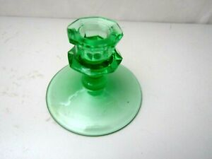Green Glass Candle Stick Holder