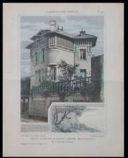 SAINTE ADRESSE, VILLA - 1911 -  PLANCHES ARCHITECTURE - GUSTAVE LETELIER
