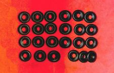 Racer Treaded Tires for Dinky Toys, black, 20mm, Foden and Racers, Lot of 24