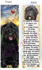 Black Labradoodle Dog Rules Property Law Labrador Retriever Bookmark Card Poodle