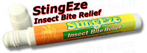 StingEze Insect Bite Relief w/ Sponge Tip Stops Pain Itching Swelling 3310