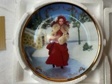 Hallmark Victorian Christmas Collection Holiday Victorian Elegance Barbie Plate